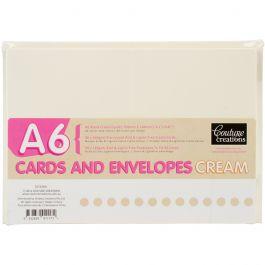 Couture Creations A6 Cards W/Envelopes 50/Pkg Cream - CO723931