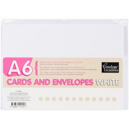 Couture Creations A6 Cards W/Envelopes 50/Pkg White - CO723893