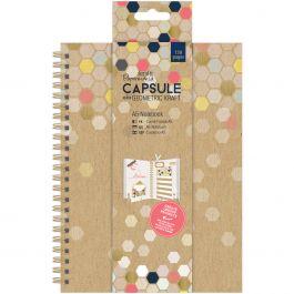 Papermania Geometric A5 Notebook Kraft - PM101314
