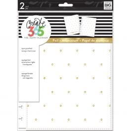 "Happy Planner Medium Snap In Hard Planner Cover 9.75""X7.75"" White W/Gold Dots - COLC-7"