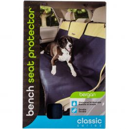 Bergan Classic 600D Polyester Auto Bench Seat Protector Navy/Sand - 88856