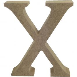 Trimcraft Smooth Mdf Blank Letter Serif Letter X - TCMDF034