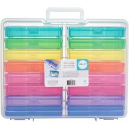"We R Craft & Photo Translucent Plastic Storage 15""X12""X5"" Includes 16 Mini Cases - WR660269"