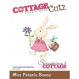 "Cottagecutz Die Miss Petunia Bunny 2.2""X2.5"" - CC417"