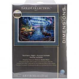 "Dimensions Gold Collection Counted Cross Stitch Kit 16""X11"" Northern Night (16 Count) - 70-35312"
