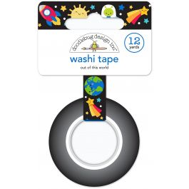 Doodlebug Washi Tape 15Mmx12Yd Out Of This World - WT6025
