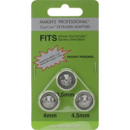 Makin'S Professional Claycore Extruder Adapters 3/Pkg 3.5Mm, 4Mm & 5Mm - M350-97