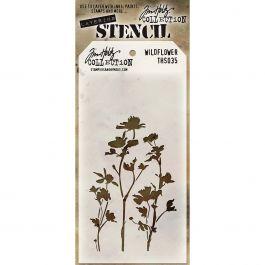 """Tim Holtz Layered Stencil 4.125""""X8.5"""" Wildflower - THS-035"""