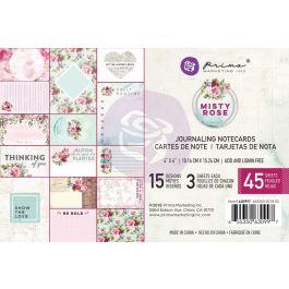 "Misty Rose Journaling Cards Pad 4""X6"" 45/Pkg 15 Designs/3 Each - 630997"