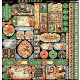 """Little Women Cardstock Stickers 12""""X12""""  - G4501664"""