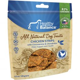 Healthy Balance Dog Treats 4.5Oz Chicken Strips Hip & Joints - HB45OZ-51024