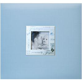 "Mbi Expressions Post Bound Album W/Window 8""X8"" Baby  Blue - 803810"