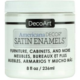 Americana Decor Satin Enamels 8Oz Pure White - ADSA-02