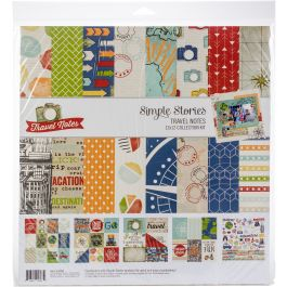 "Simple Stories Collection Kit 12""X12"" Travel Notes - TRA10093"