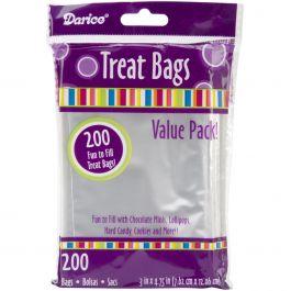 "Treat Bags 3""X4.75"" 200/Pkg Clear - 28-001V"