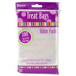 "Treat Bags 3.75""X6"" 200/Pkg Clear - 28-002V"