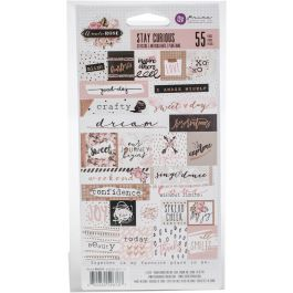 """Amelia Rose Stickers 4.5""""X6.5"""" 2/Pkg Stay Curious Words & Quotes - 596767"""