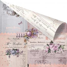 "Lavender Rose Gold Foiled Double Sided Cardstock 12""X12"" Through The Years - L12-48750"