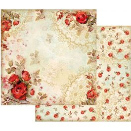 "Stamperia Double Sided Cardstock 12""X12"" Red Roses - SBB416"