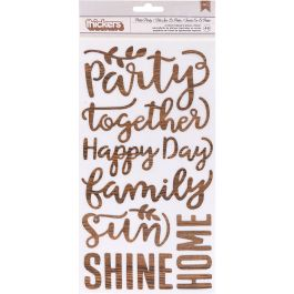 """Patio Party Thickers Stickers 5.5""""X11"""" 2/Pkg Words/Printed Cardstock - 733777"""
