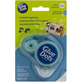 "Glue Dots Clear Dot Disposable Dispenser Ultra Thin .375"" 300/Pkg - 4018"