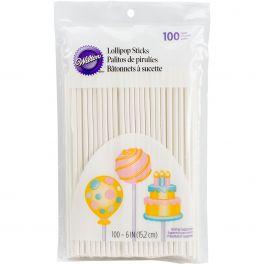 """Lollipop Sticks 6"""" 100/Pkg  - W1002"""