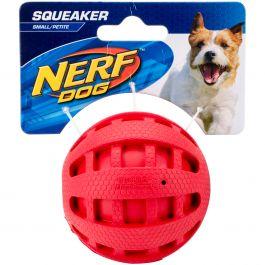 "Nerf Checker Squeak Ball 2.5"" Red - G1022"