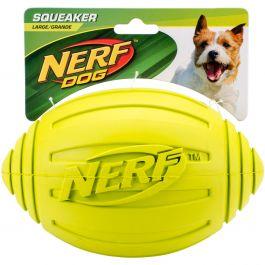 "Nerf Ridged Squeak Football 7"" Green - G6988"