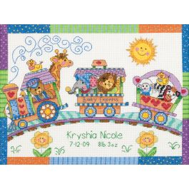 "Dimensions/Baby Hugs Counted Cross Stitch Kit 12""X9"" Baby Express Birth Record (14 Count) - 73428"