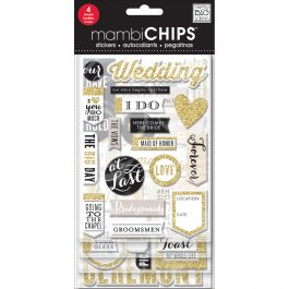 Me & My Big Ideas Chipboard Value Pack Our Wedding, 61/Pkg - CBVX45