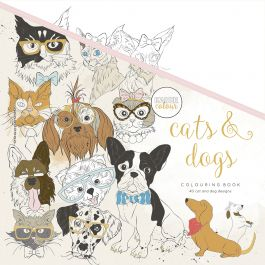"Kaisercolour Perfect Bound Coloring Book 9.75""X9.75"" Cats & Dogs - CL539"