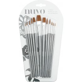Nuvo Paint Brushes 12/Pkg  - 972N