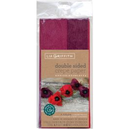 Double Sided Extra Fine Crepe Paper 2/Pkg Sangria/Aubergine & Cherry/Raspberry - LG11022