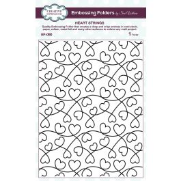 Creative Expressions Embossing Folder By Sue Wilson Heart Strings - EF090