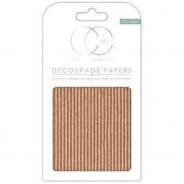 "Craft Consortium Decoupage Papers 13.75""X15.75"" 3/Pkg Corrugated Textured Board - DECP113"