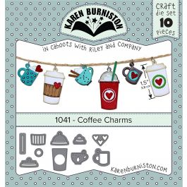 Karen Burniston Dies Coffee Charms - KBR1041