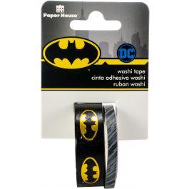 Paper House Washi Tape 2/Pkg Batman Logo, 15Mmx10M And 5Mmx10M - STWA0019