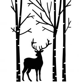 "Embossing Folder 4.25""X5.75"" Deer In Forest - EB12-19425"
