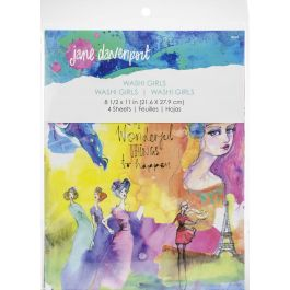 Jane Davenport Artomology Washi Sheets 4/Pkg-Washi Girls