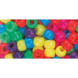 Pony Beads 6Mmx9Mm 900/Pkg Neon Multicolor - 750V-077