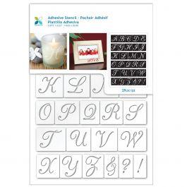 "Momenta Adhesive Stencil 6""X8"" Script Alphabet - ST-252-25234"