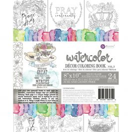 Prima Coloring Book Vol. 3 Watercolor Decor Faith, 24 Sheets - PMCB-89790