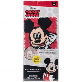 "Dimensions Disney Latch Hook Kit 12""X12"" Mickey Mouse - 72-74887"