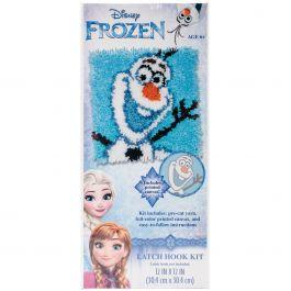 """Dimensions Disney Latch Hook Kit 12""""X12"""" Olaf  Frozen - 72-74888"""