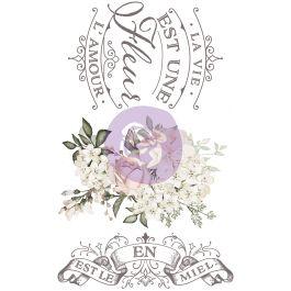 """Prima Re Design Decor Colored Transfer La Vie Est Une Fleur 17""""X27"""" - PRIMA6-32878"""