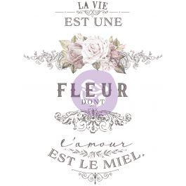 """Prima Re Design Decor Colored Transfer L'Amour Est Le Miel 27""""X36"""" - PRIMA6-33004"""