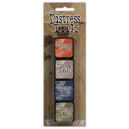 Tim Holtz Distress Mini Ink Pads 4/Pkg Kit 5 - TDPK-40354