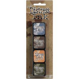Tim Holtz Distress Mini Ink Pads 4/Pkg Kit 9 - TDPK-40392