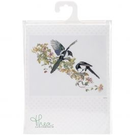 "Thea Gouverneur Counted Cross Stitch Kit 25.75""X19"" Magpie On Aida (18 Count) - TG1075A"