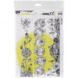Carabelle Studio Cling Stamp Xxl A4 Wonderful Flower Strips - SA40011